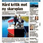 Stort uppslag i Tidningen Skärgården